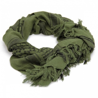 Winter Windproof Cotton Thick Muslim Hijab Military Tactical Desert Arabic Scarf  - Green