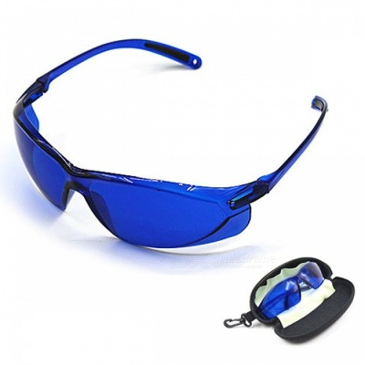 IPL Beauty Protective 200-1200nm Red Laser Glasses, Safety Goggles - Blue