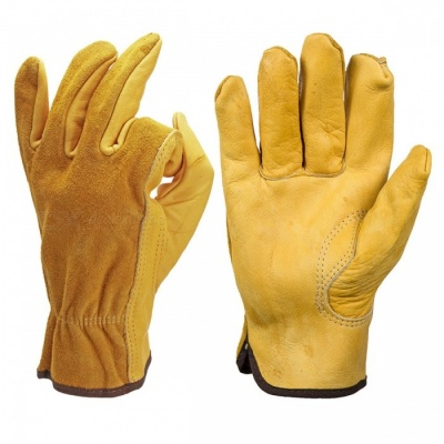 Safety Cowhide Leather Security Protection Gloves for Driver Worker - XL