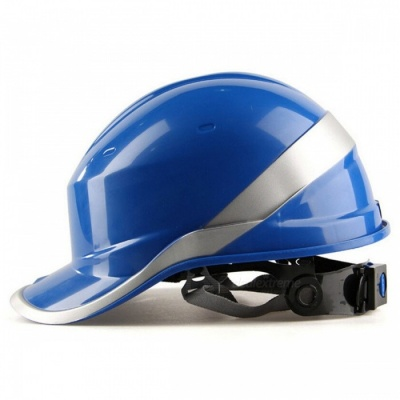 Safety Helmet Hard Hat Work Cap with ABS Insulation Material, Phosphor Stripe - Blue