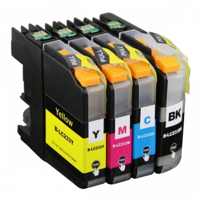 4PK LC233 LC231 Ink Cartridge Chip, Reset Compatible with Brother DCP-J562DW MFC-J480DW J680DW J880DW Printer
