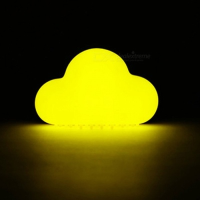 Novelty Cloud Style Night Light Wireless Wall Lamp LED Sound Sensor Lamp with Magnet On The Back - Yellow
