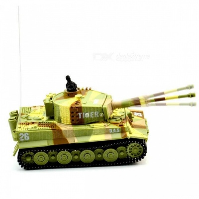 1:72 Vivid High Simulated Great Wall RC Remote Control Tank Toy for Kids - Amry Green