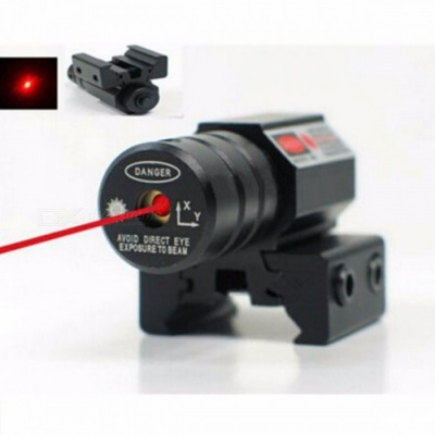 Adjustable 11mm 20mm Picatinny Rail 50-100M Range 635-655nm Red Dot Laser Scope Sight Pistol Hunting Accessory