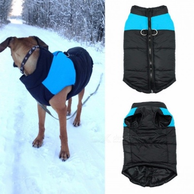 Waterproof Pet Dog Puppy Vest Jacket Chihuahua Clothing Warm Winter Dog Clothes Coat for Small Medium Large Dogs 4 Colors S-5XL L/BLUE