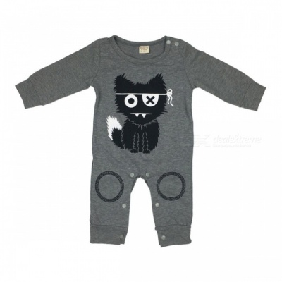Cute Baby Rompers Cotton Baby Boy Clothing Newborn Baby Girl Clothes Long Sleeves Cartoon Infant Jumpsuit 10-12 months