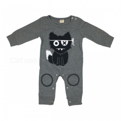 Cute Baby Rompers Cotton Baby Boy Clothing Newborn Baby Girl Clothes Long Sleeves Cartoon Infant Jumpsuit 7-9 months