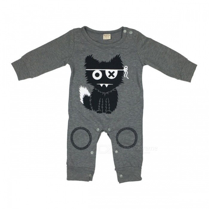Cute Baby Rompers Cotton Baby Boy Clothing Newborn Baby Girl Clothes Long Sleeves Cartoon Infant Jumpsuit 4-6 months
