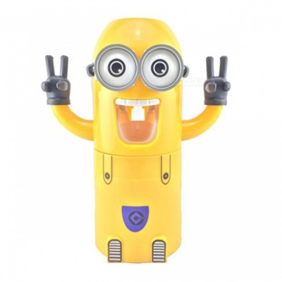 Automatic Toothpaste Dispenser Cute Funny Plastic Bathroom Little Gadget Accessories Toothbrush Holder double eye