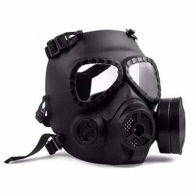 M04 Skull Shape Paintball Goggles Gear Mask, Tactical Airsoft Full Face Protection Safety Guard Mask for CS Games Black