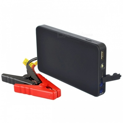 LUNDA New Mini Portable 12V Car Battery Jump Starter, Auto Jumper Engine Power Bank w/ Starting Up to 2.0L Blue