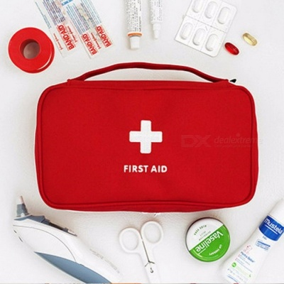 Outdoor Travel Large Medicine Bag Camping Pill Storage Bag First Aid Emergency Case Survival Kit Case Red
