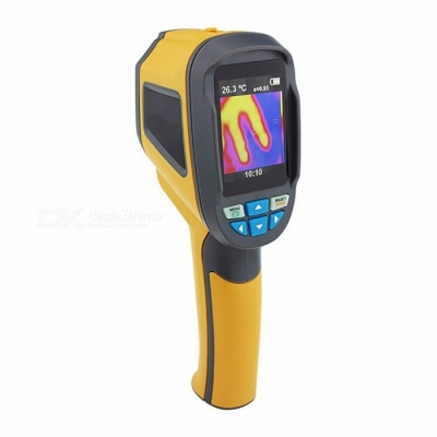 """Ht-02 Digital Thermograph Camera 2.4"""" Inches Color Display Infrared Thermal Camera IR Infrared Imager  yellow"""