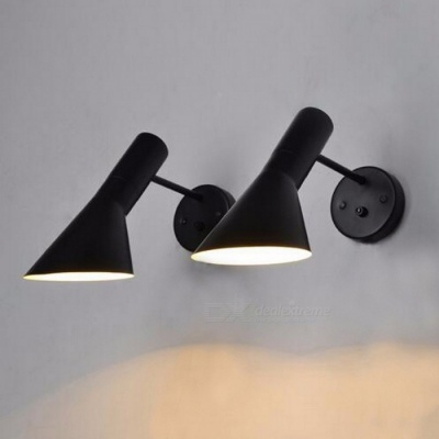 Modern Sconce Wall Mounted Bedside Reading Light, Creative Wall Lamp for Living Room Foyer Home Lighting Black