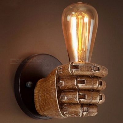 Edison Retro Style Wall Sconce Lamp Fixture, Creative Personality Loft Industrial Vintage Wall Mounted Light Brown