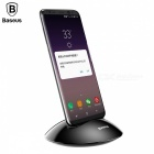 Baseus Desktop Type-C Charger Charging Dock Station, Phone Holder Stand for Samsung S8 Note8 Xiaomi Mi5 Mi6 Silver
