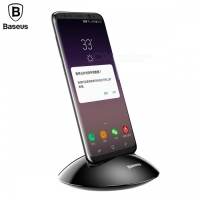 Baseus Desktop Type-C Charger Charging Dock Station, Phone Holder Stand for Samsung S8 Note8 Xiaomi Mi5 Mi6 Black