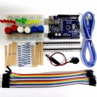 High Quality DIY UNO R3 Starter Kit Set Mini Breadboard LED Jumper Wire Button 9V Battery Connector Resistors for Arduino colorful