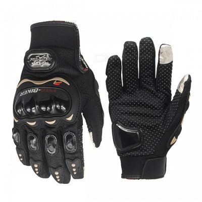 Motorcycle Cycling Full Fingers Touch Screen Gloves Cool Stylish Warm Anti-Slip Gloves Fours Sizes for Choose XXL/Black