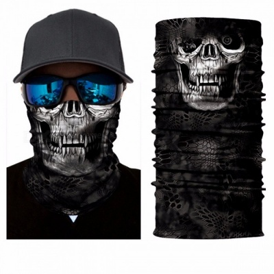 Outdoor Motorcycle Amazing Face Mask Skull Mask Scarf Bandana Headbands Fashion Cool Balaclava Neck Scarves Clear