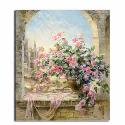 DRAWJOY G134 Frameless Pictures Wall Art DIY Painting By Numbers, Hand Painted Oil Wall Painting on Canvas for Home Decoration 40*50 cm