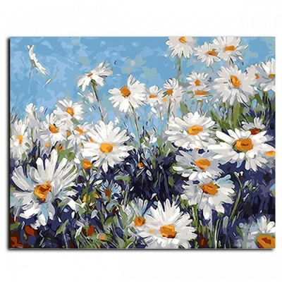GX4227 Framed Flower DIY Painting By Numbers, Wall Art DIY Canvas Oil Painting for Living Room Home Decoration no frame 40x50cm