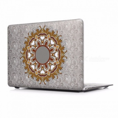 Unique Chic Printed Floral Paisley Pattern Laptop Case Cover with Touch Bar for Apple Mac Macbook Air Pro 15 Retina A1398/P005
