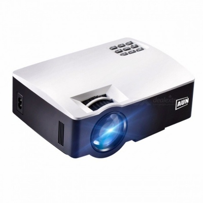AUN AKEY1 1800 Lumens Full HD 1080P Projector for Home Theater, Support HDMI (Mmultimedia Presentation System) White