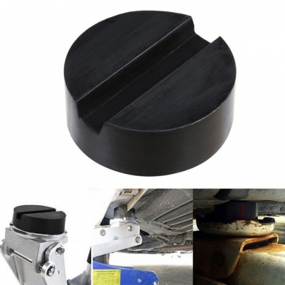 VORCOOL Floor Slotted Auto Car Rubber Jack Pad Frame Protector Adapter Jacking Disk Pad Tool for Pinch Weld Side Lifting Disk Black