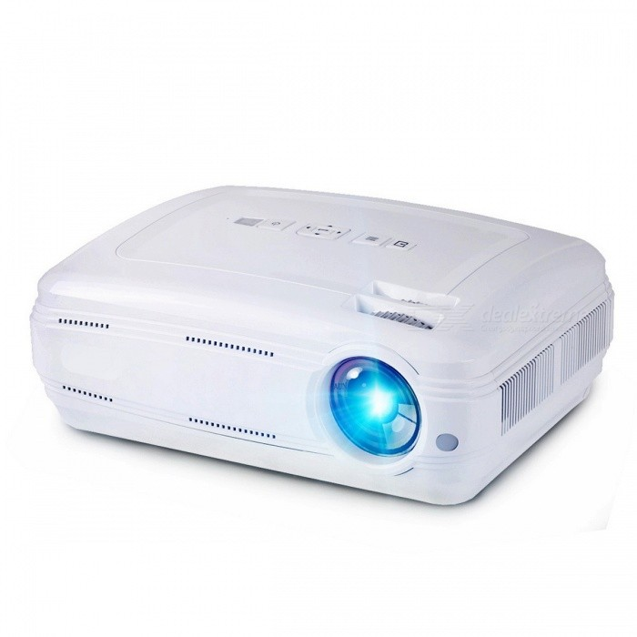 AUN AKEY2 3500 Lumens Android 6.0 LED Projector Beamer w/ Built-in Wi-Fi, Bluetooth, Support 4K Video, Full HD 1080P LED TV  White