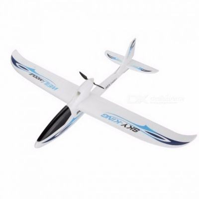 Wltoys F959 Sky King 3CH Three-Channel RC Airplane, Push-speed Glider Fixed Wing Plane RTF Toy for Kids Blue