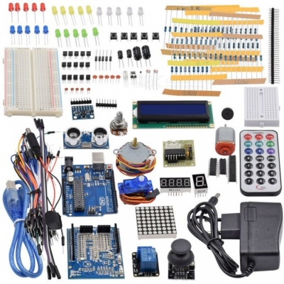 Ultimate Starter Kit Ultrasonic Sensor, UNO R3, LCD1602 Screen for Arduino Mega2560 UNO Nano with Plastic Box colorful