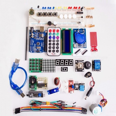 High Quality Upgraded Advanced Version Starter Kit the RFID Learn Suite Kit LCD 1602 Set for Arduino UNO R3 colorful