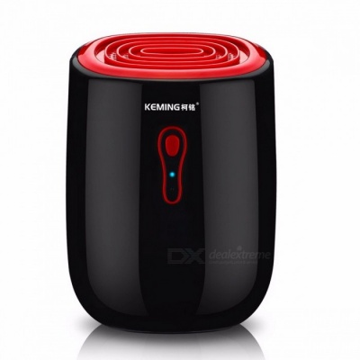 Mini Portable 25W Ultra-quiet Home Dehumidifier Mini Air Dryer with Automatic Shut-Off Function, Indicator Light Black + Red