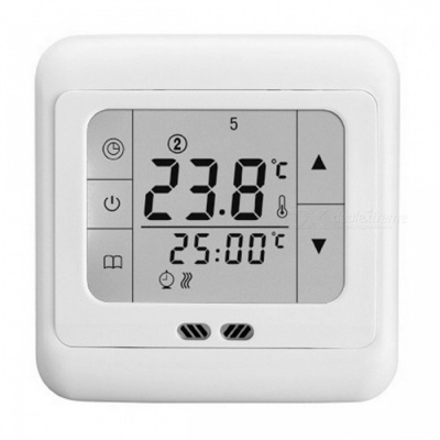 Floureon BYC07.H3 Touch Screen Thermoregulator Heating Thermostat for Warm Floor, Electric Heating System Temperature Controller White