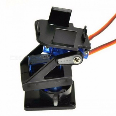 Servo Bracket Platform Anti-Vibration Camera PT Pan/Tilt Camera Mount for Aircraft FPV Dedicated Nylon PTZ for 9G SG90 MG90S Black