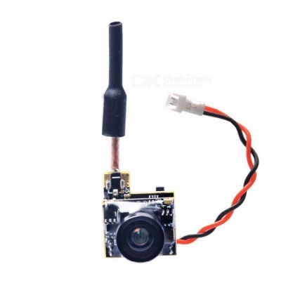 AKK BS2 5.8G 48CH 25mW VTX 600TVL 1/3 CMOS AIO FPV Camera for FPV Drone, Like Tiny Whoop Blade Inductrix Etc Black