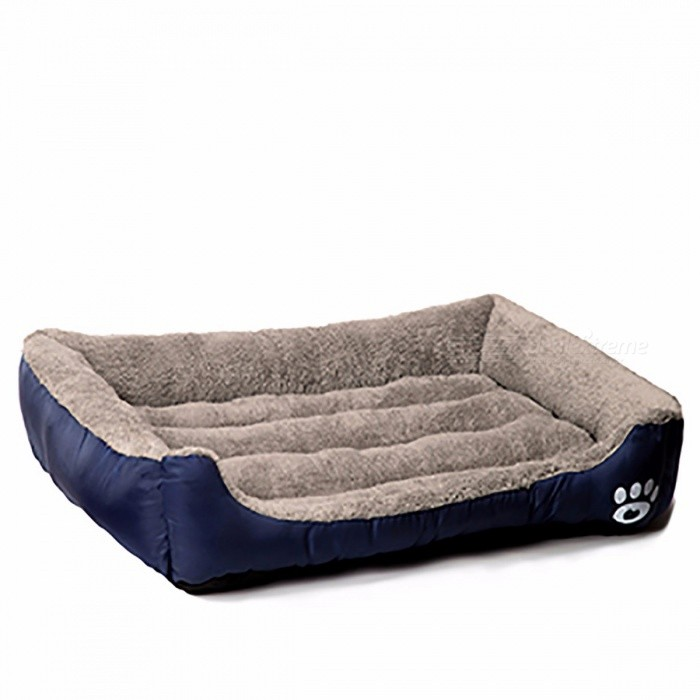 Warming Pet Dog Bed House, Soft Material Nest Dog Baskets, Fall and Winter Warm Kennel for Cat, Puppy XL/Navy Blue