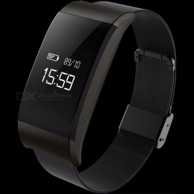 A66 Smart Bracelet Bluetooth V4.0 Smart Band Waterproof Wristband Pedometer Watch Heart Rate Blood Pressure Blood Oxygen Monitor Gold