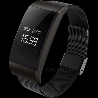 A66 Smart Bracelet Bluetooth V4.0 Smart Band Waterproof Wristband Pedometer Watch Heart Rate Blood Pressure Blood Oxygen Monitor Silver