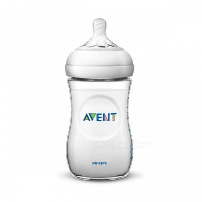 AVENT BPA Free Natural Polypropylene Bottle, 260ML Infant Mamadeiras Juice Milk Water Feeding Bottle, Nursing Garrafa  Transparent