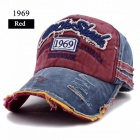 FLB Causal Style Snapback Baseball Cap for Men and Women, Unique Design Casquette Hat for Outdoor Sports 1969 Red