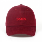 Kendrick Lamar Embroidery DAMN Rapper Baseball Cap, Unstructured Dad Casual Sports Hat for Men, Women White