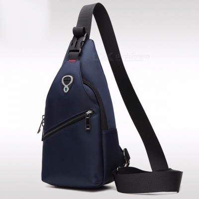 ARCTIC HUNTER New Fashion Leisure Waterproof Chest Bag for Men, Oxford Cloth Korea Style Messenger Shoulder Bag for Teenager Boy blue