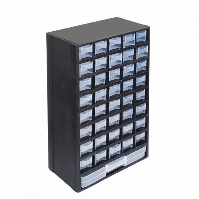 HORUSDY 12.2*5.4*19.3 Inches Portable Durable Plastic Part Storage Hardware and Craft Cabinet Tool Box Drawer black