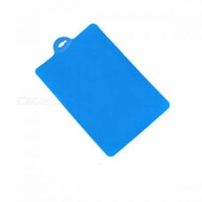 39 x 25cm Flexible PP Plastic Non-slip Cutting Board with Hang Hole, Food Slice Cut Chopping Block Kitchen Tool Blue