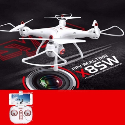 SYMA X8SW Wi-Fi FPV Realtime Transmitter RC Drone Helicopter with Airpressure Hold Mode, Altitude Height Hold White