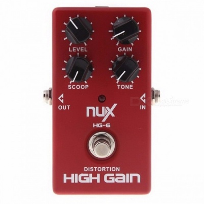 NUX HG-6 High Gain Guitar FET simulate Distortion  Overdrive Effect Pedal True bypass Hardware Switching Red