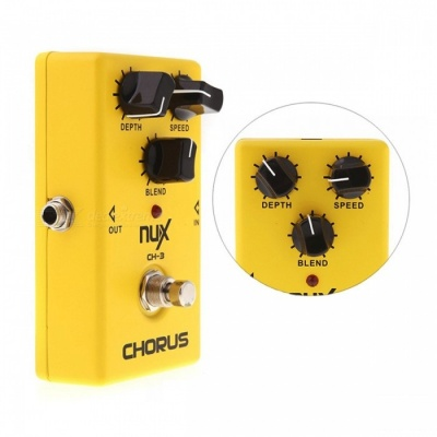 NUX CH-3 Violao Guitar Guitarra Electric Effect Pedal, Chorus Low Noise BBD High Quality True Bypass Yellow Musical Instrument Bright yellow