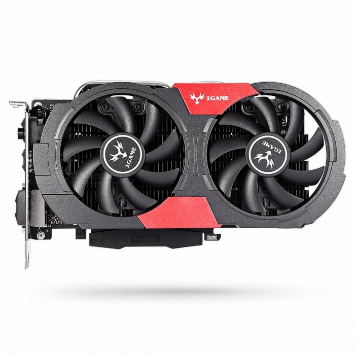 Colorful iGame 1050Ti Video Graphics Card 4G 128bit DDR5 6Pin Support HDMI DVI DP for Computer DIY Gaming PUBG black